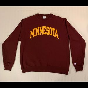 Embroidered Minnesota Gophers Champion Crewneck L